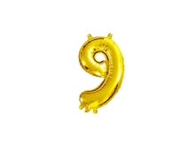 Load image into Gallery viewer, Gold Color Number Foil Balloon - Instaparty.in