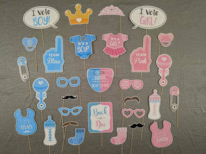 Baby Shower Photo Props - Pink & Blue Color - Instaparty.in