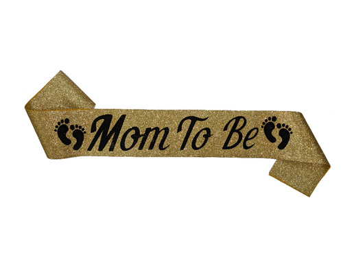 Mom To Be Sash - Gold Color - Instaparty.in