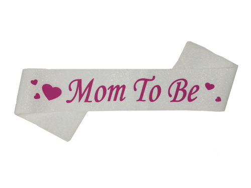 Mom To Be Sash - White Color - Instaparty.in