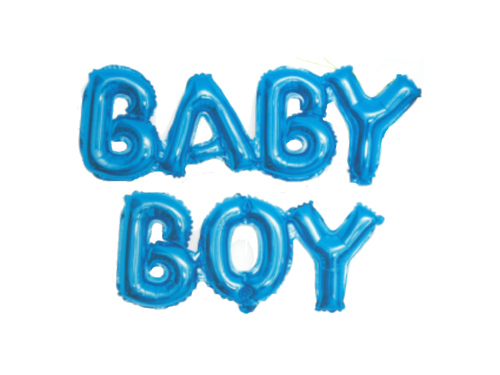 Baby Boy Attached Foil Letter Balloon - Blue Color - Instaparty.in