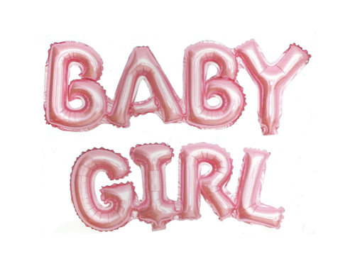 Baby Girl Attached Foil Letter Balloon - Pink Color - Instaparty.in