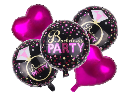 Bachelorette Party Foil Combo - Pink & Black Colors - Instaparty.in