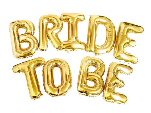 Bride To Be Letters Foil Balloons - Gold Color - Instaparty.in