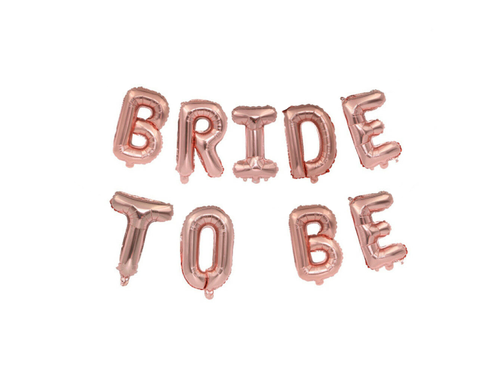 Bride To Be Letters Foil Balloons - Rose Gold Color - Instaparty.in