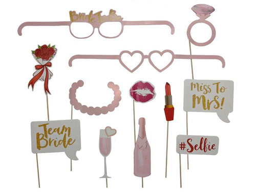 Bride To Be Photo Props - Light Pink Color - Instaparty.in