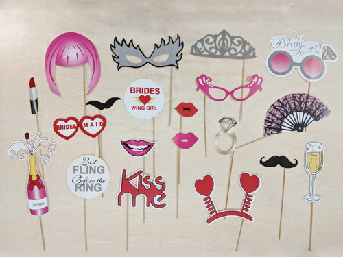 Bride To Be Photo Props - Pink Color - Instaparty.in