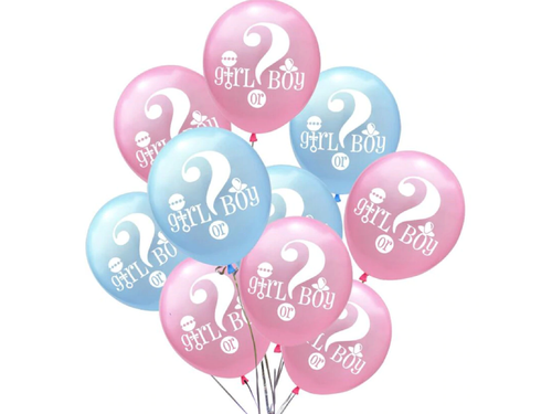 Girl Or Boy Theme Balloons - Pack of 10 - Instaparty.in