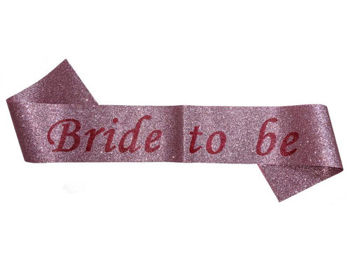 Glitter Bride To Be Sash - Pink Color - Instaparty.in