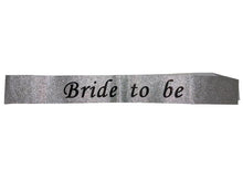 Load image into Gallery viewer, Glitter Bride To Be Sash - Silver Color - Instaparty.in