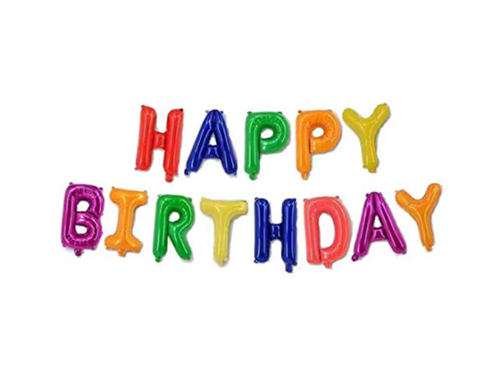 Happy Birthday Letters Foil Banner - Multi Color - Instaparty.in