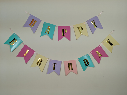 Happy Birthday Banner - Multi Color - Instaparty.in