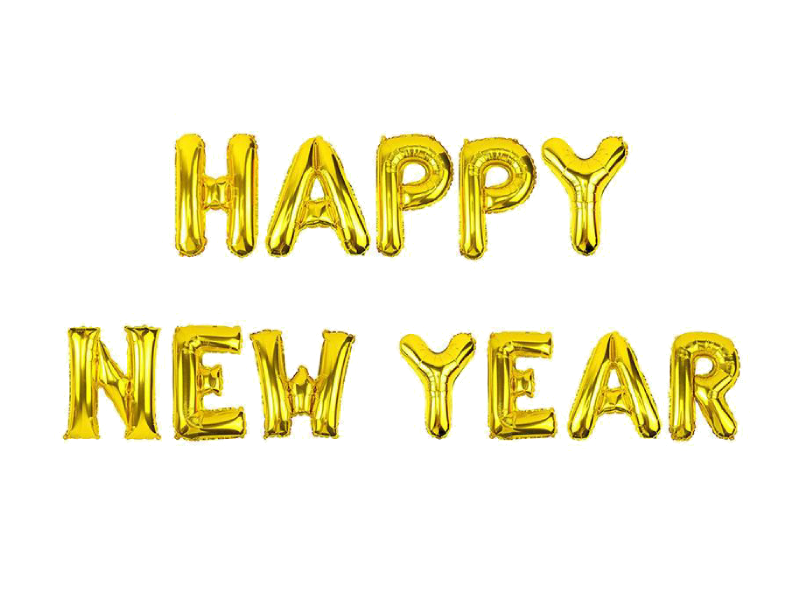 Happy New Year Foil Banner - Gold Color - Instaparty.in