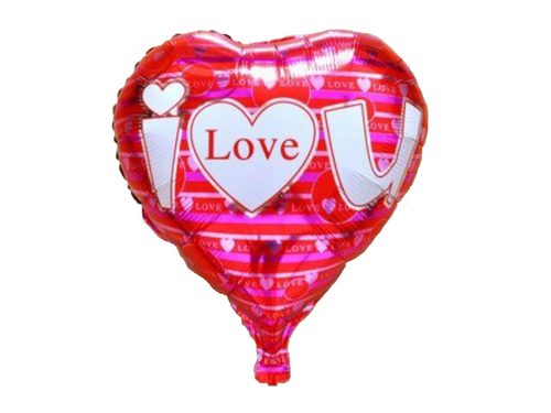 I Love You Heart Shape Foil Balloon - Red & Pink Colors - Instaparty.in