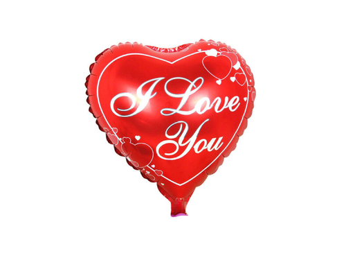I Love You Heart Shape Foil Balloon - Red Color - Instaparty.in