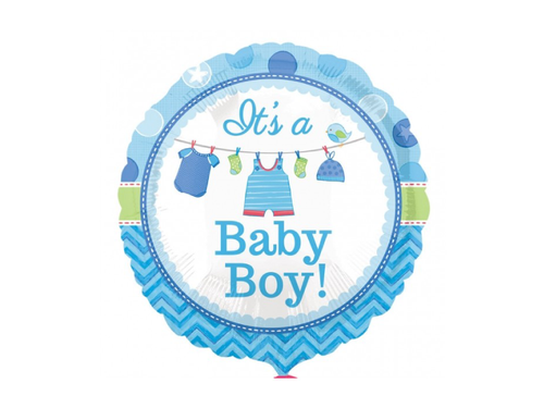 Its A Baby Boy Round Foil Balloon - Light Blur Color - Instaparty.in