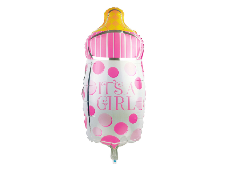 Its A Girl Milk Bottle Foil Balloon - Pink Color - Instaparty.in