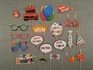 Kids Birthday Party Photo Props - Instaparty.in