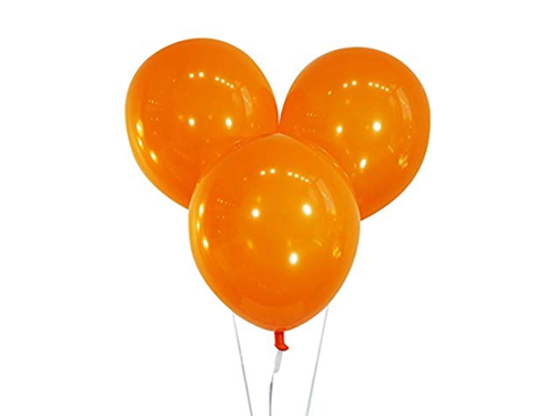 Latex Balloons - Orange Color - Instaparty.in