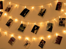 Load image into Gallery viewer, LED Decorative Clips - Pack of 20 - Warm White Color - Instaparty.in