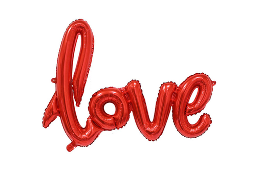 Love Letters Foil Balloon - Red Color - Instaparty.in