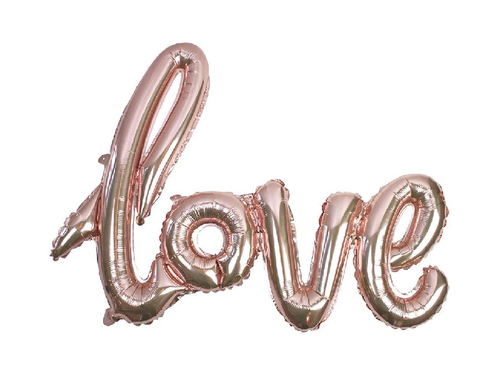 Love Letters Foil Balloon - Rose Gold Color - Instaparty.in