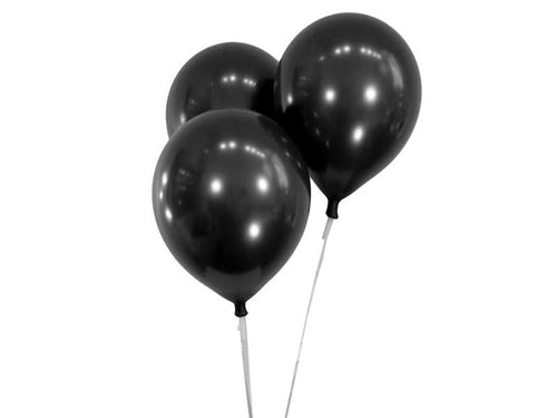 Metallic Black Balloons - Pack of 15 - Instaparty.in