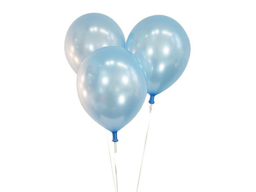 Metallic Blue Balloons - Pack of 15 - Instaparty.in