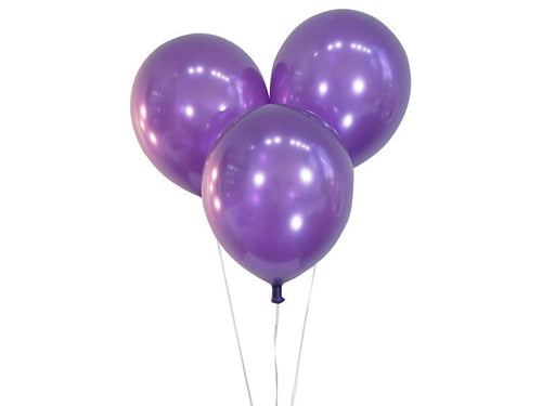 Metallic Violet Balloons - Pack of 15 - Instaparty.in
