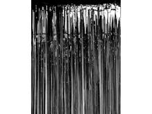 Load image into Gallery viewer, Party Backdrop Foil Curtain - Black Color - Instaparty.in