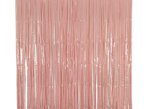 Party Backdrop Foil Curtain - Light Pink Color - 3 Feet x 6 Feet - Instaparty.in
