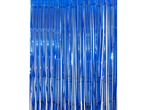 Premium Foil Curtain Backdrop Blue Color - 3 Feet x 6 Feet - Instaparty.in
