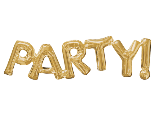PARTY Letters Foil Balloon - Gold Color - Instaparty.in