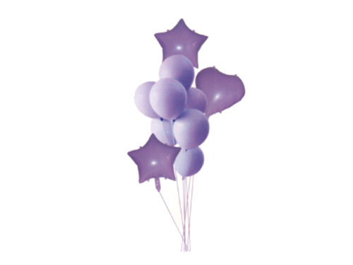 Pastel Foil Set Combo - Purple Color - Instaparty.in