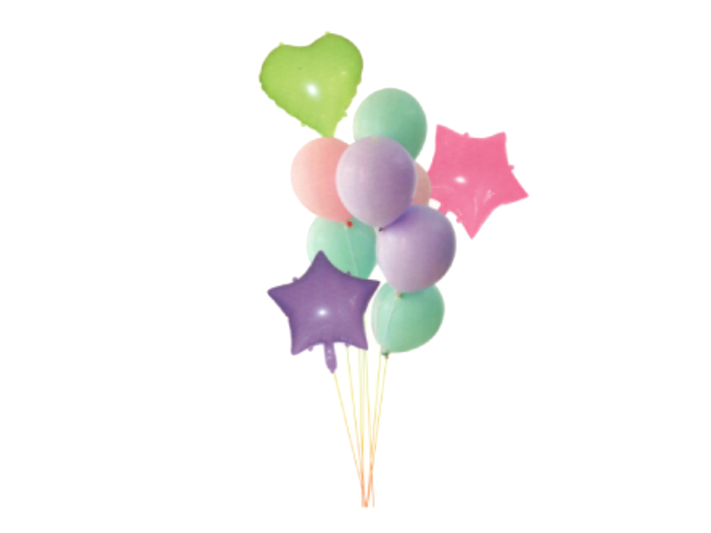 Pastel Foil Set Combo - Purple, Pink & Green Colors - Instaparty.in