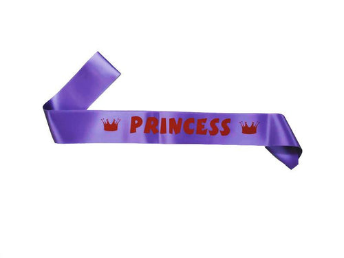 Pricess Sash - Violet Color - Instaparty.in
