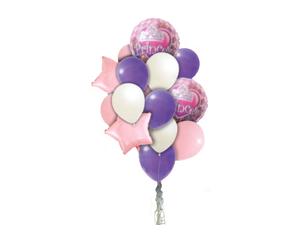 Princess Theme Foil Balloon Combo - Pink & Purple Colors - Instaparty.in