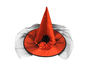 Red & Black Witch Hat With Roses - Halloween - Instaparty.in