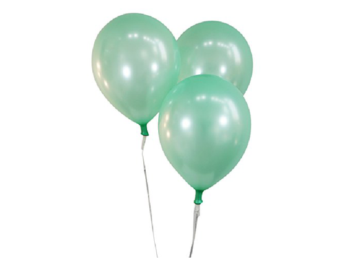 Sea Green Normal Balloons - Pack of 35 - Instaparty.in