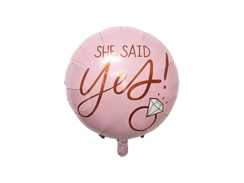 She Said Yes Foil Balloon - Pink Color - Instaparty.in