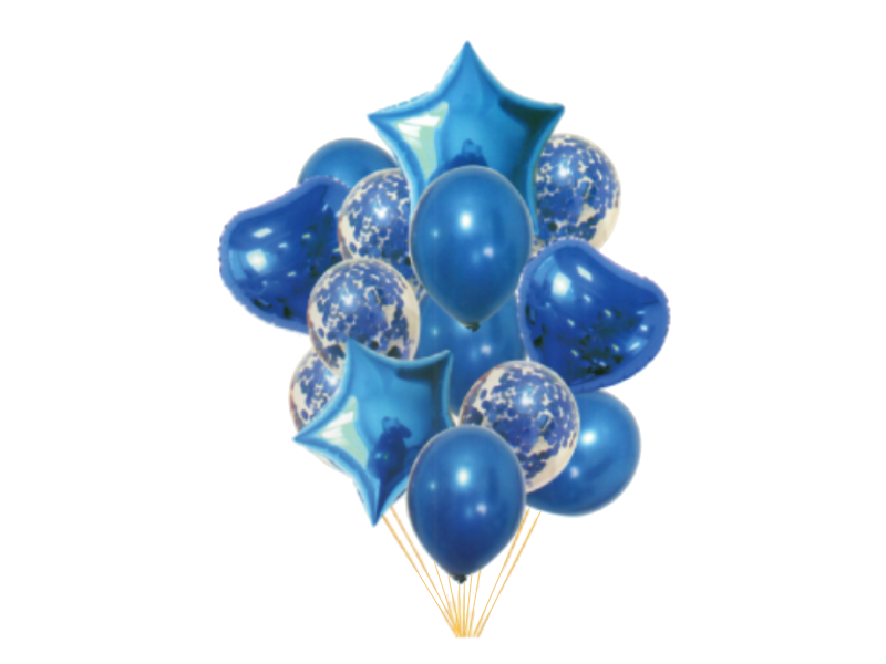 Special Foil And Confetti Balloon Combo - Blue Color - Instaparty.in
