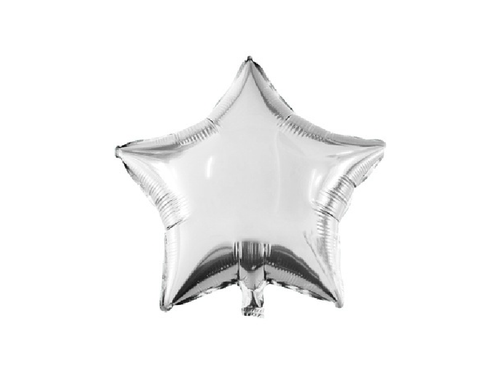 Star Foil Balloon - Silver Color - Instaparty.in