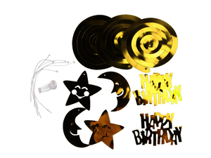 Birthday Swirls - Gold Color - Instaparty.in