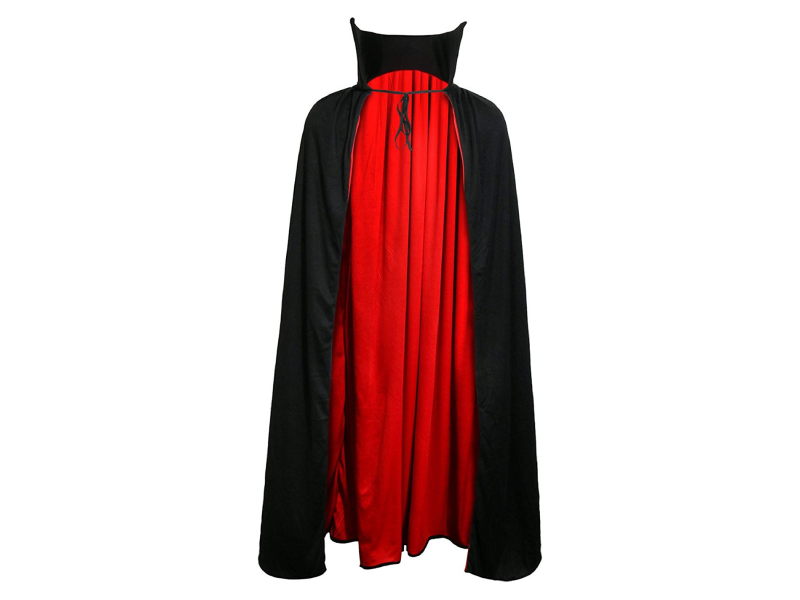Reversible Red & Black Vampire Cape - Halloween - Instaparty.in