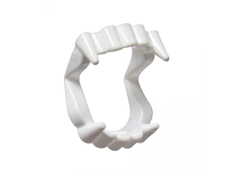 Vampire Teeth With Fangs - White Color - Halloween - Instaparty.in