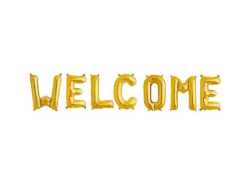 Welcome Foil Banner - Gold Color - Instaparty.in