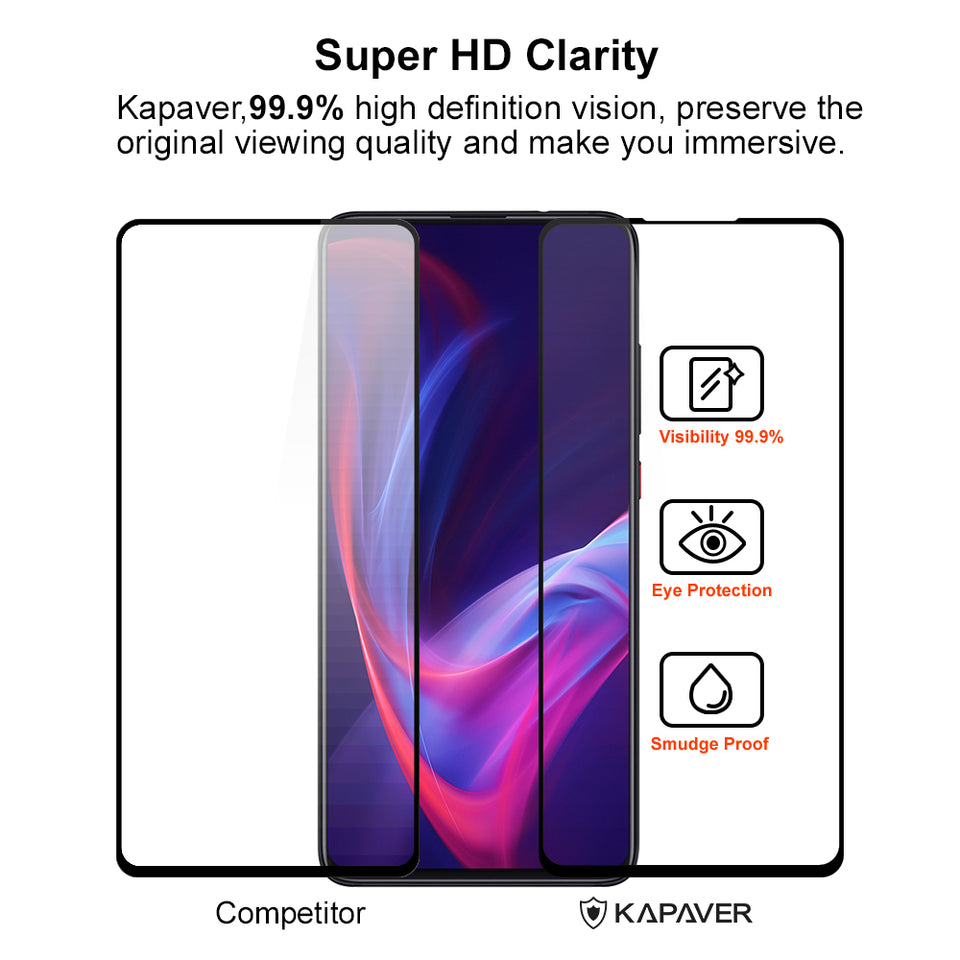 Kapaver 3D Tempered Glass for Xiaomi Redmi k20 / Redmi k20 Pro