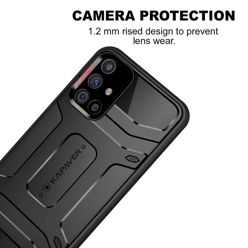 KAPAVER® Rugged Back Cover Case for Samsung Galaxy M31s
