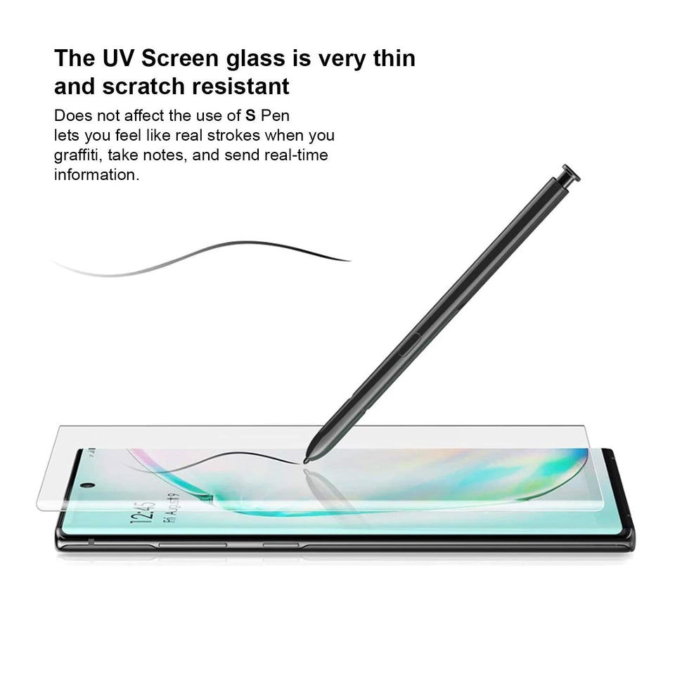 KAPAVER® Enhanced Border UV Tempered Glass for Samsung Galaxy Note 10 Plus