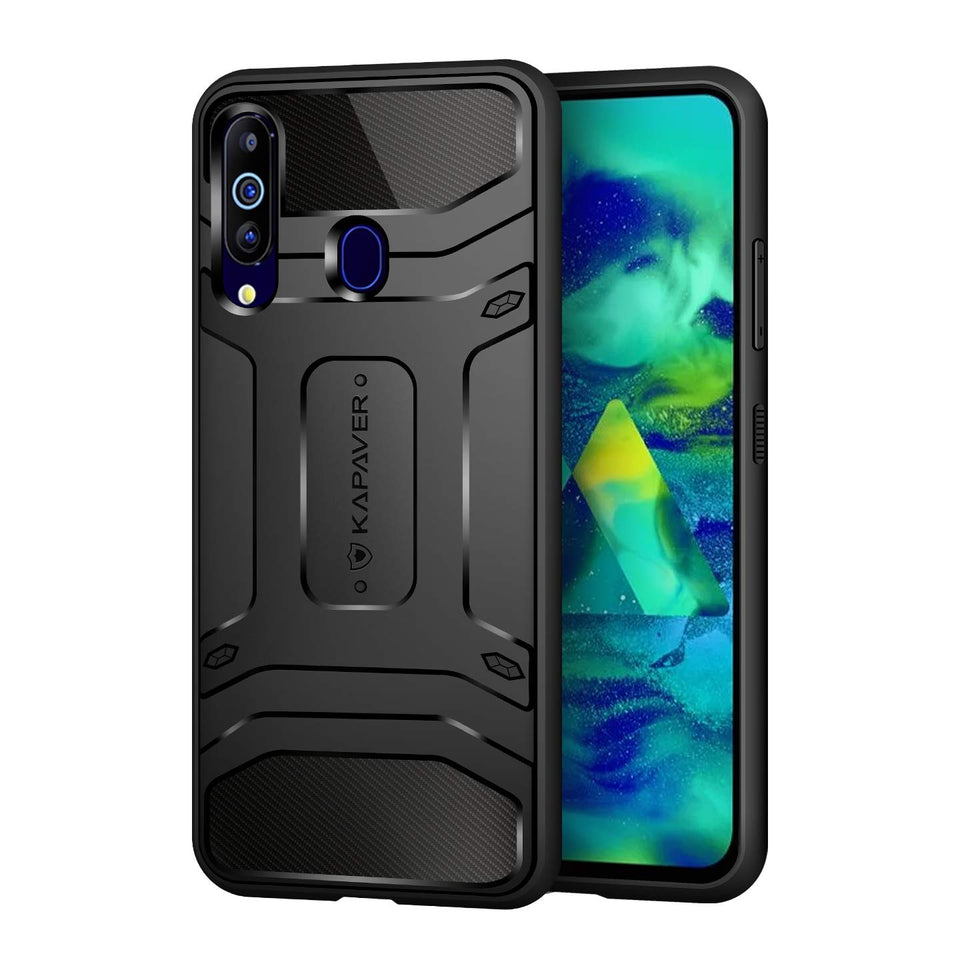 KAPAVER® Rugged Back Cover Case for Samsung Galaxy M40 / A60